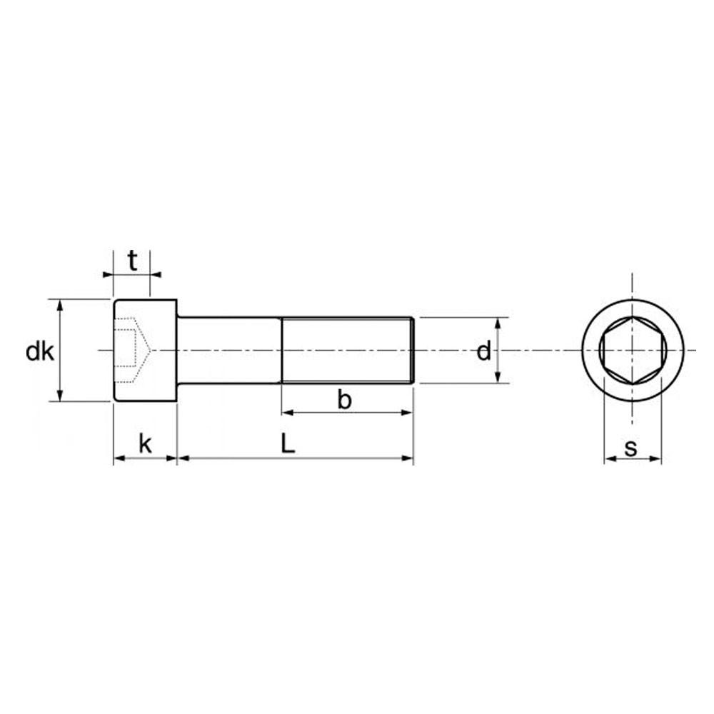 FASTON Vis cylindrique /à six pans creux en acier inoxydable A2 V2A Vis /à t/ête cylindrique DIN 912 Vis /à t/ête cylindrique Vis /à t/ête cylindrique /à six pans creux inoxydable