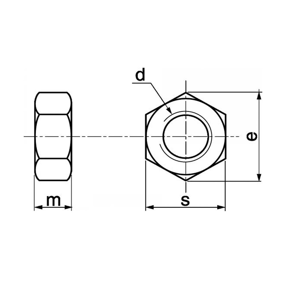 ECROU HEXAGONAL H HU 20 PROMOTION M2 INOX